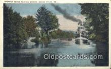 shi009608 - Steamer Above Sliding Bridge, Songo, River, Maine, ME USA Steam Ship Postcard Post Cards