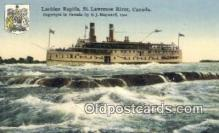shi009609 - Lachine Rapids, St Lawrence River, Montreal, Canada Steam Ship Postcard Post Cards