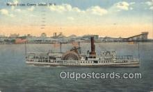 shi009610 - Water Front, Coney Island, New York NY USA Steam Ship Postcard Post Cards