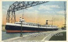 shi009622 - Steamer Harmonic, Duluth, Michigan, MI USA Steam Ship Postcard Post Cards