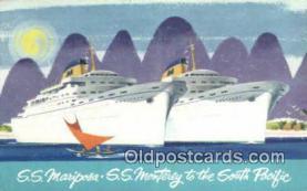 shi009630 - S Mariposa, SS Monterey, New Zealand Steam Ship Postcard Post Cards