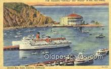 shi009639 - Steamers Catalina And Avalon, Avalon Bay, Santa Catalina, California, CA USA Steam Ship Postcard Post Cards
