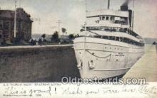 shi009650 - SS North West, Entering Locks, Sault Steamer, Marie, Canada Steam Ship Postcard Post Cards
