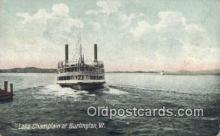 shi009669 - Lake Champlain At Burlington, Vermont, VT USA Steam Ship Postcard Post Cards