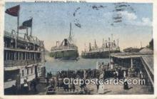shi009674 - Excursion Steamers, Detroit, Michigan, MI USA Steam Ship Postcard Post Cards