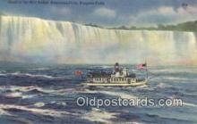 shi009675 - Maid Of The  Mist Below American Falls, Niagara Falls, New York, NY USA Steam Ship Postcard Post Cards
