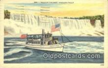 shi009677 - Maid Of The Mist Niagara Falls, New York, NY USA Steam Ship Postcard Post Cards