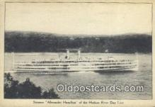shi009689 - Steamer Alexander Hamilton, Hudson River Day Line, New York, NY USA Steam Ship Postcard Post Cards