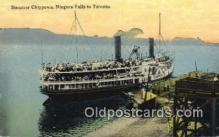 shi009692 - Steamer Chippewa,Tononto, Canada Steam Ship Postcard Post Cards
