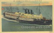 shi009696 - Steamer City Of Detroit III, Detroit, Michigan, MI USA Steam Ship Postcard Post Cards