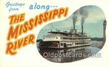 shi009699 - The Glamour Of The Mississippi River Steam Ship Postcard Post Cards