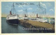 shi009717 - The Avalon Steamer At Wharf, Avalon, Catalina Island, California, CA USA Steam Ship Postcard Post Cards