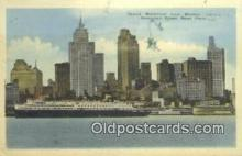 shi009725 - Detroit Waterfront From Windsor, Canada Steam Ship Postcard Post Cards