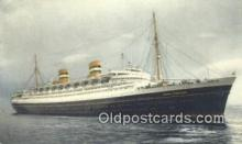 shi009732 - SS Nieuw Amsterdam Steam Ship Postcard Post Cards