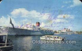 shi009739 - Mv Ocean Monarch, Hamilton, Bermuda Steam Ship Postcard Post Cards
