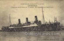 shi009740 - Lutetia Steam Ship Postcard Post Cards