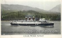 shi009742 - CNSS Prince Rupert Steam Ship Postcard Post Cards