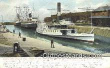 shi009751 - The Largest Dry Dock in The World, Newport, News, Rhode Island, RI USA Steam Ship Postcard Post Cards