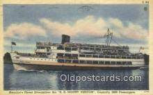 shi009753 - American Finest Streamliner The SS Mount Vermont, Vermont, VT USA Steam Ship Postcard Post Cards