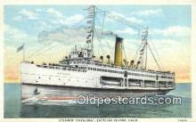shi009757 - Steamer Catalina, Catalina, Island, California, CA USA Steam Ship Postcard Post Cards