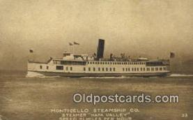 shi009758 - Monticello Steamship Co. Napa Valley Steam Ship Postcard Post Cards