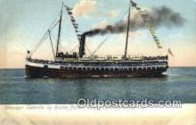 shi009761 - Steamer Cabrillo in Avalon Harbor, Catalina Island, California, CA USA Steam Ship Postcard Post Cards