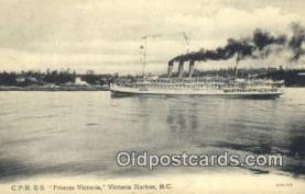 shi009765 - CPR SS Princess Victoria, Victoria Harbor, British Columbia, BC Steam Ship Postcard Post Cards