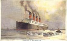 shi009775 - Cunarder at Southhampton Steam Ship Postcard Post Cards