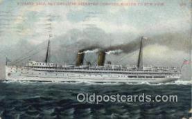 shi009778 - Steamer Yale Metropolitan, New York, NY USA Steam Ship Postcard Post Card
