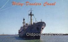 shi009782 - Wiley Dondero Canal St Lawrence Seaway, Canada Steam Ship Postcard Post Card