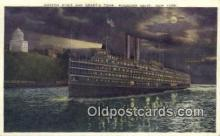 shi009783 - Hudson River And Grants Tomb, Riverside Drive, New York, NY USA Steam Ship Postcard Post Card