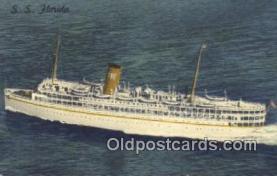 shi009784 - SS Florida, Miami, Florida, FL USA Steam Ship Postcard Post Card