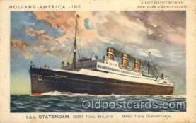 shi010012 - Statendam Holland America Line Ship Ships