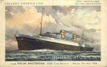 shi010019 - T.S.S. Nieuw Amsterdam, Holland - America Line Postcard Postcards
