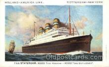 shi010021 - T.S.S. Statendam, Holland - America Line Postcard Postcards