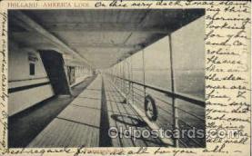 shi010030 - Promenade Deck, Holland - America Line Postcard Postcards