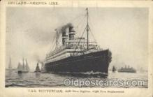 shi010054 - T.S.S. Rotterdam Holland - American Line, Lines, Liner, Ship Ships Postcard Postcards