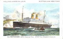 shi010062 - D.D.Rotterdam Holland - American Line, Lines, Liner, Ship Ships Postcard Postcards