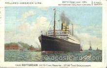 shi010068 - S.S. Rotterdam Holland - American Line, Lines, Liner, Ship Ships Postcard Postcards