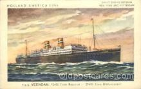 shi010070 - S.S. Veendam Holland - American Line, Lines, Liner, Ship Ships Postcard Postcards
