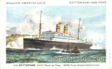 shi010072 - D.D. Rotterdam Holland - American Line, Lines, Liner, Ship Ships Postcard Postcards