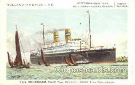 shi010073 - TSS Volendam Holland - America Line, Steamer, Steam Boat, Ship Ships, Postcard Postcards