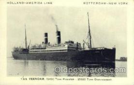shi010074 - TSS Volendam Holland - America Line, Steamer, Steam Boat, Ship Ships, Postcard Postcards