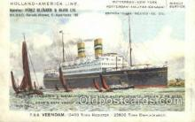 shi010075 - TSS Veendam Holland - America Line, Steamer, Steam Boat, Ship Ships, Postcard Postcards