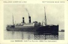 shi010076 - TSS Veendam Holland - America Line, Steamer, Steam Boat, Ship Ships, Postcard Postcards