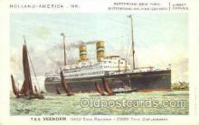 shi010077 - TSS Veendam Holland - America Line, Steamer, Steam Boat, Ship Ships, Postcard Postcards