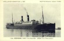 shi010078 - TSS Veendam Holland - America Line, Steamer, Steam Boat, Ship Ships, Postcard Postcards
