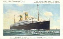shi010079 - TSS Veendam Holland - America Line, Steamer, Steam Boat, Ship Ships, Postcard Postcards