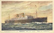 shi010080 - TSS Veendam Holland - America Line, Steamer, Steam Boat, Ship Ships, Postcard Postcards