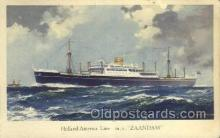 shi010082 - MV Zaandam Holland - America Line, Steamer, Steam Boat, Ship Ships, Postcard Postcards